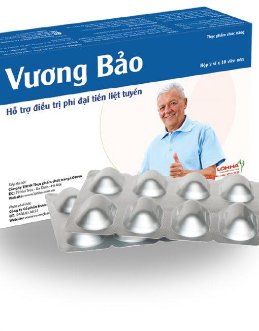 Vương Bảo hỗ trợ điều trị u xơ (phì đại lành tính) tiền liệt tuyến