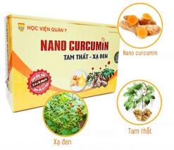 Nano Curcumin Tam Thất Xạ Đen của Học Viện Quân Y được chiết xuất từ dược liệu thiên nhiên giúp giảm triệu chứng đau dạ dày, tá tràng, nhanh lành vết thương