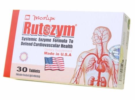 Viên uống chống đột quỵ Rutozym của mỹ